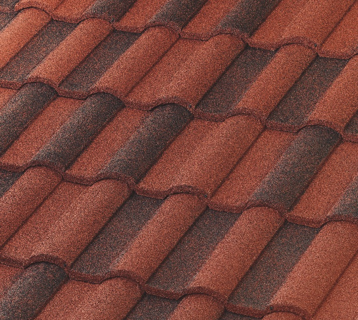 Picture of High-Barrel Spanish metal roof shingles.