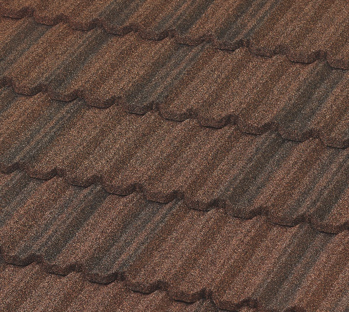 Picture of Mediterranean Villa metal roof shingles.